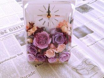 長方形flower時計(サンプル)の画像