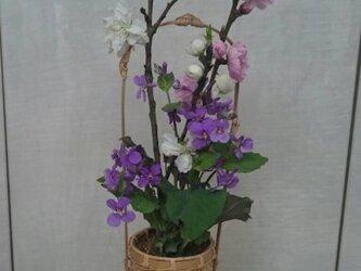 ミニ網代編みかご(花籠)の画像