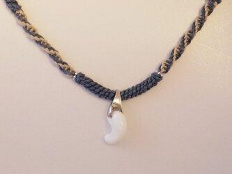 オパール勾玉 ヘンプネックレス opal x hempの画像