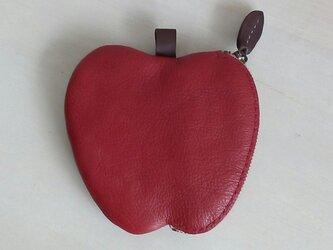 リンゴのコインケース(赤)の画像