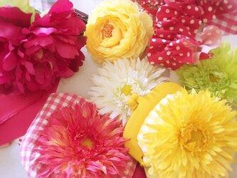 ☆お花 プラスティックがま口 小の画像