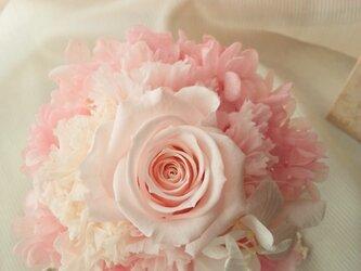プリザーブドフラワー ウエディング ミニョンピンクの画像