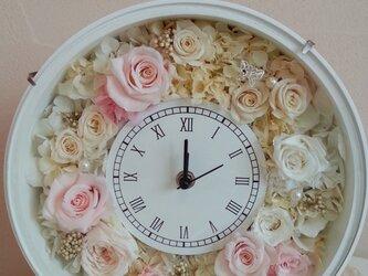 花時計ローズバニラ  ウエディング プリザーブドフラワーの画像