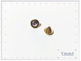 スタッズ キャッチ 金の画像