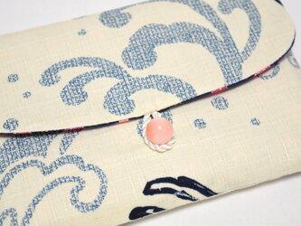 16×11サイズ御朱印帳入れ_波うさぎと桜の画像