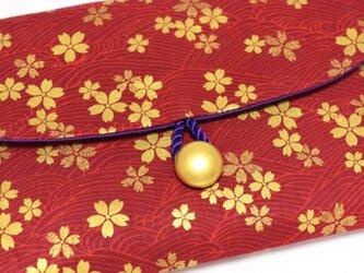 16×11サイズ御朱印帳入れ_金彩桜流水紋の画像