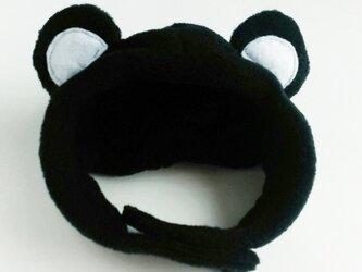 黒くまのかぶりもの(帽子)【S/M/L】の画像