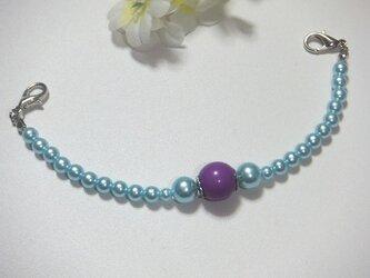 女性羽織紐◆妖艶な水色とパープルの画像
