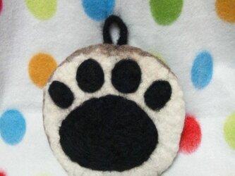 羊毛 ポットマット♪ 肉球 b-catの画像