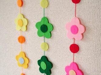 カラフルお花モビール・のれんの画像