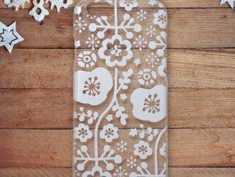 iPhonePlusハードクリアケース【花もよう】の画像