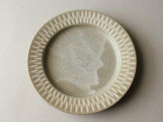 6寸リム皿 グレーの画像