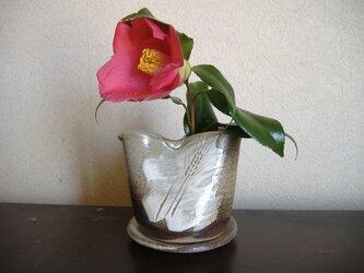 花器にも使える麦穂文様つゆ入れ(受け皿付)の画像