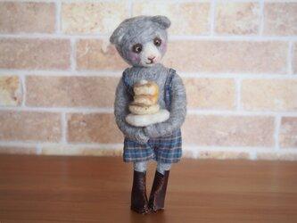 ハイイロクマさんとパンケーキの画像