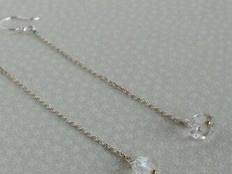 ハーキマーダイヤモンドのシルバーピアスの画像