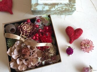 Box Flower ブラウンベージュの画像