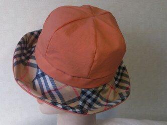 魅せる帽子☆子供用(54センチ前後)レインハット~オレンジの画像