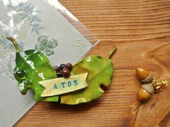 ATOSシリーズ 若葉のバレッタ1ー2016春の画像