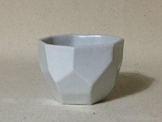 170 白磁面取酒杯の画像