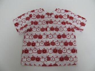 SALE!【手ぬぐいシャツ】130サイズ・りんご柄の画像