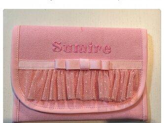 女の子移動式ポケットクリップ付き(ピンク×ピンク)の画像