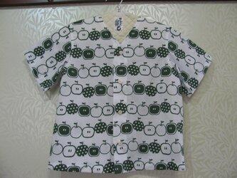 SALE!【手ぬぐいシャツ】130サイズ・青りんご柄の画像