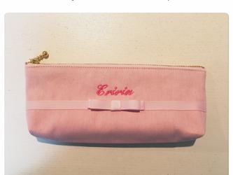 女の子ペンケース(ピンク×ピンク)の画像