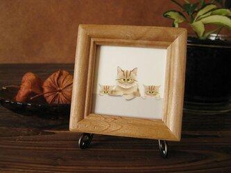 猫  「茶トラの親子」の画像