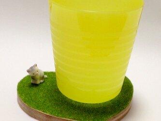 芝生コースター【ネコ】の画像