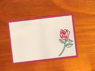 Thanksカード/Rose<single>の画像