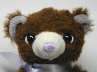 Sold  out!  まめっこ☆チョコレート色のほっこり熊さん の画像