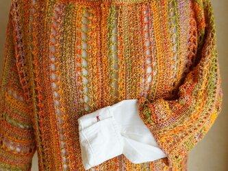 【編み図】アフガン編みプルオーバーの画像