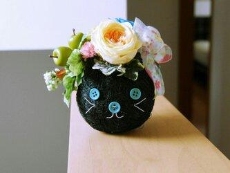 黒猫ちゃんアレンジの画像