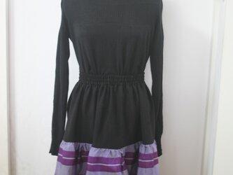 銘仙の二段スカートの画像