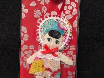 可愛い文化人形のしおりの画像