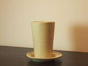 スっと、手持ちが軽いカップ。Cold drinkにオススメ!ソーサセット! 250mlの画像