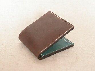 二つ折り財布《Brown & Green》の画像