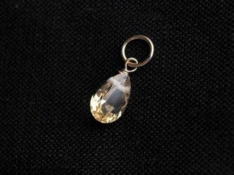 【チャームのみ】K14GF 宝石質シトリンの一粒チャームの画像