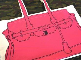 トロンプルイユ●トートバッグ(大)〈ピンク〉の画像