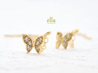 送料無料[14kgf]小さな蝶々のピアスの画像