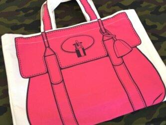 トロンプルイユ●トートバッグ(小)〈ピンク〉の画像