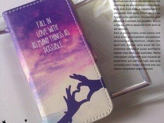 ♡sunset 手帳型 iPhone5,5s iPhone6,6s ケース♡の画像