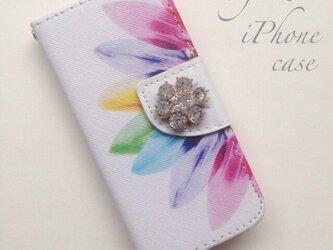 sunflower♡iPhone5,5s iPhone6,6sケース♡ビジュー付き♡の画像