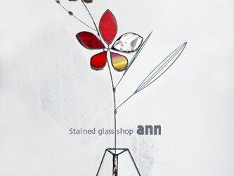 ステンドグラス フラワー160328Rの画像