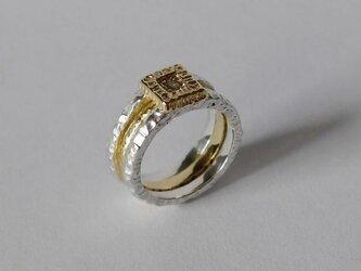 3way ring★(sv*brass)の画像