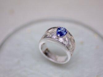 Drop shaped Tanzanite ring  〜安らぎをあなたへ〜の画像