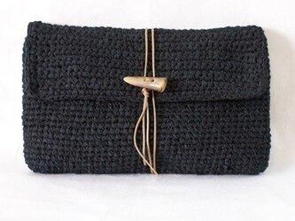裂き編みバッグ(クラッチバッグ)の画像