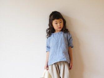 +SALE+ JAPAN Linen blouse 100,110 sizeの画像