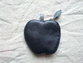リンゴのコインケース(黒)の画像