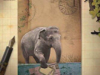 アンティーク風 アニマル ポストカードセット Aの画像
